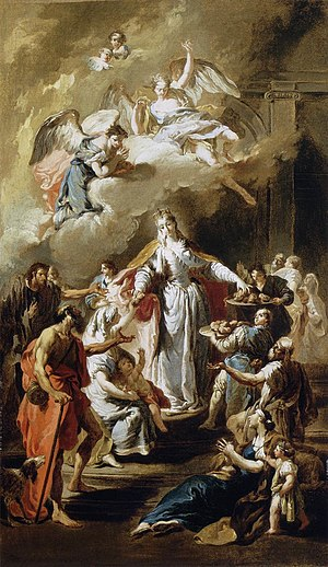 Museum of Fine Arts (Budapest) - St Elizabeth Distributing Alms by Giambattista Pittoni