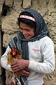 Girl with chicken afghanistan.jpg