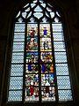 Gisors (27), collégiale St-Gervais-et-St-Protais, collatéral sud, verrière n° 20 - vie de sainte Barbe 1.jpg