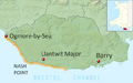 Glamorgan Heritage Coast, Vale of Glamorgan - location map.png