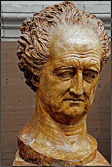 Buste de Goethe par David d Angers, Weimar, 1829. Galerie David d Angers, Angers.