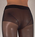 Golden Lady my secret 40 DEN pantyhose panty portion back side on puppet.jpg