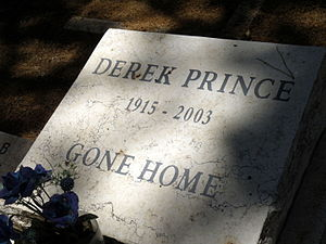 Derek Prince - The grave of Derek Prince in Alliance Church International Cemetery, Jerusalem