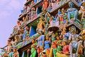 Gopuram of Sri Mariamman Temple, Singapore (detail) - 20140213-01.jpg
