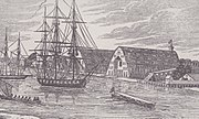 Gosport Navy Yard Portsmouth circa 1840 Historical Recollections of Va Henry Howe 1852 LOC