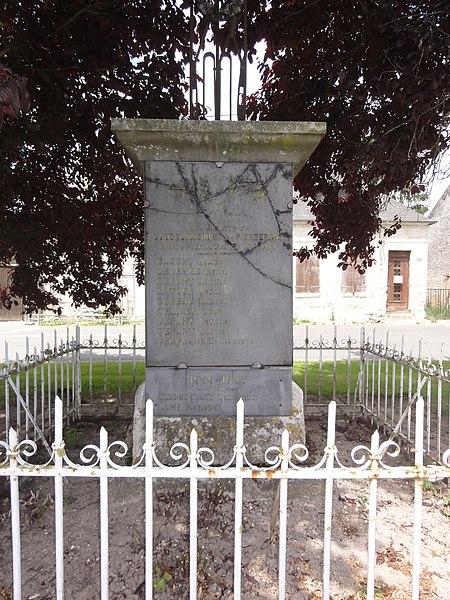 Goudelancourt-lès-Pierrepont (Aisne) monument aux morts, détail