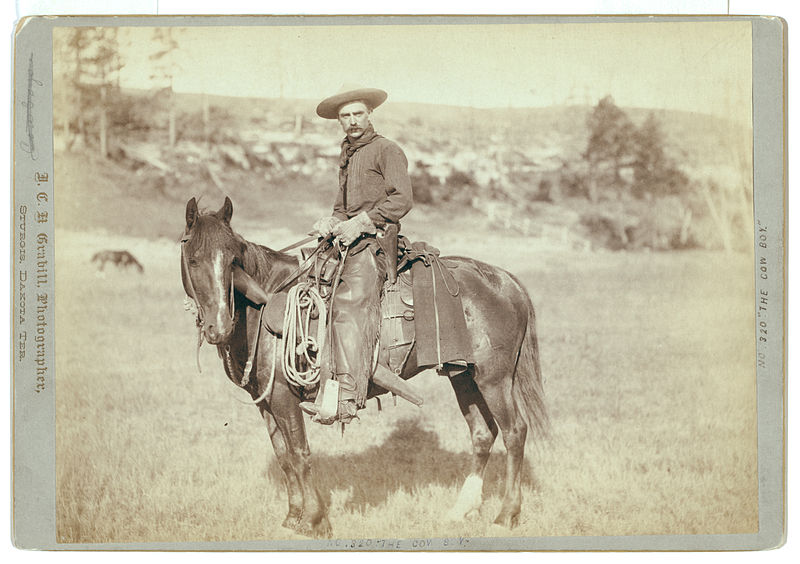 """The Cow Boy"" / J.C.H. Grabill, photographer, Sturgis, Dakota."