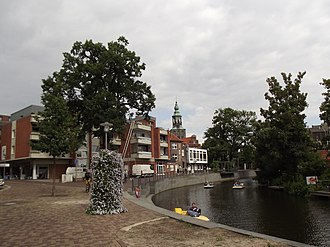 Gracht - A gracht in Nordhorn, a German city with close ties to the Netherlands