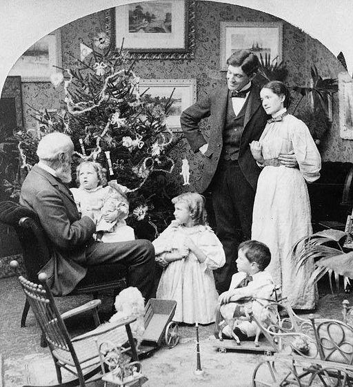 Grandpa's visit Christmas morning