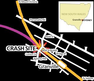 Granville rail disaster train wreck