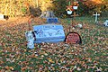 Grave Decorated for Halloween, Alban Cemetery, Ypsilanti Township, Michigan - panoramio.jpg