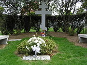 The grave of Sergei Rachmaninoff in Kensico Cemetery