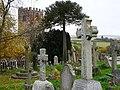 Gravestones, St Andrew's churchyard, Kenn - geograph.org.uk - 1045202.jpg