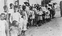 Armenian refugee children near Athens, 1923, after the Population exchange between Greece and Turkey