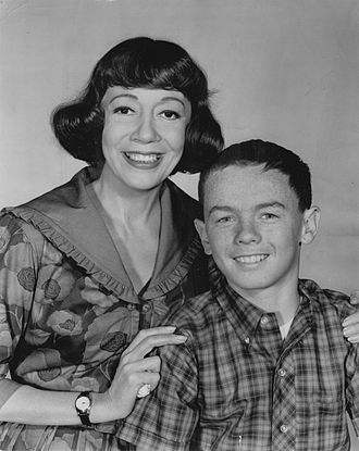 Imogene Coca - Imogene Coca with Billy Booth in the NBC comedy series Grindl, circa 1964.
