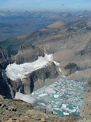 Grinnell Glacier in Glacier National Park, Mon...