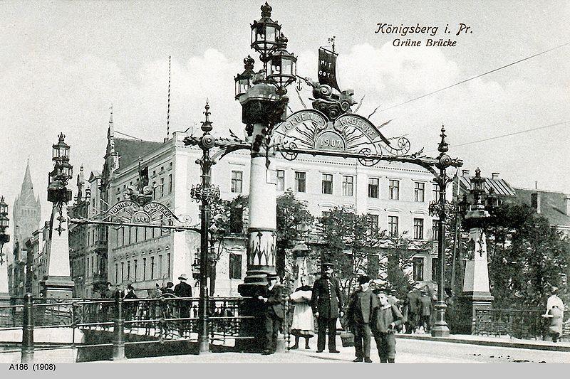 De Grüne Brücke in 1908