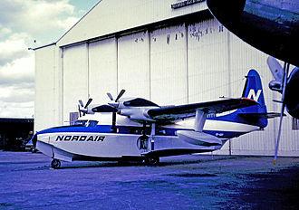 Nordair - Nordair Grumman G-73 Mallard at Montreal Dorval in 1973