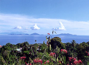 View from Guadeloupe