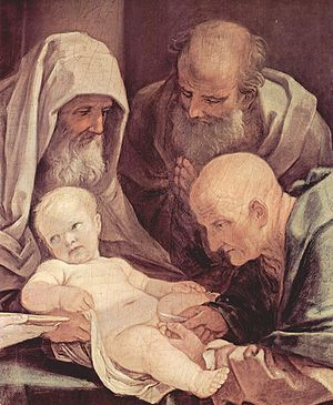Circumcision of Jesus - Detail of a Guido Reni painting