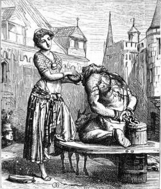 Quasimodo - Esmeralda gives a drink to Quasimodo in one of Gustave Brion's illustrations