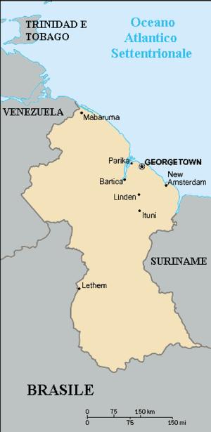 Guyana mappa