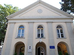 Gyöngyös City Television building. Former synagogue. Listed ID 5670. - Eszperantó St., Gyöngyös, Hungary.JPG
