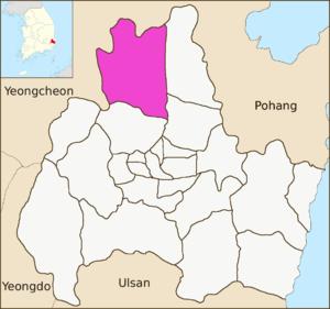 Angang-eup - Image: Gyeongju map Angang eup 01