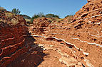 Gypsum layers Caprock Canyons 1.JPG