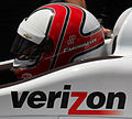 Hélio Castroneves in his car at Carb Day 2015 - Sarah Stierch.jpg
