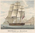 H.M.S. Barham quitting Constantinople With Sir Stratford Canning on bd. 12th August 1832 RMG PY0777.jpg