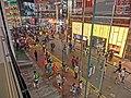 HK CWB Hysan Place mall shop Apple Store view Kai Chiu Road night visitors Mar-2013.JPG