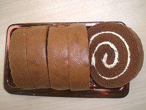 Swiss roll - Image: HK Food Swiss Roll Saint Honore Cake