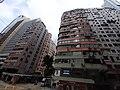 HK tram 118 view 灣仔 Wan Chai 軒尼詩道 Hennessy Road Chong Hing Building facades Stewart Road Kwong Wah Mansion October 2019 SS2 02.jpg