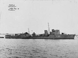 HMS <i>Cattistock</i> (L35) Type I Hunt-class destroyer of the Royal Navy
