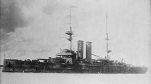 HMS New Zealand (1904) - Image: HMS New Zealand LOC ggbain 16722