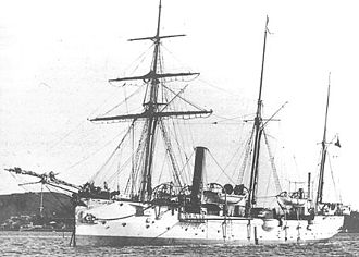 Maxwell Hendry Maxwell-Anderson - HMS Sparrow in c. 1900