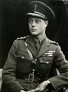 portrait photograph of Edward, Prince of Wales, in his Army uniform