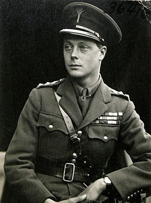 Edward VIII - Edward in uniform as colonel of the Welsh Guards, 1919