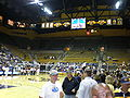 Haas Pavilion set up for women's volleyball 2008-11-22.JPG