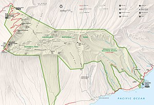 Haleakalā National Park - Detail map of Haleakalā National Park