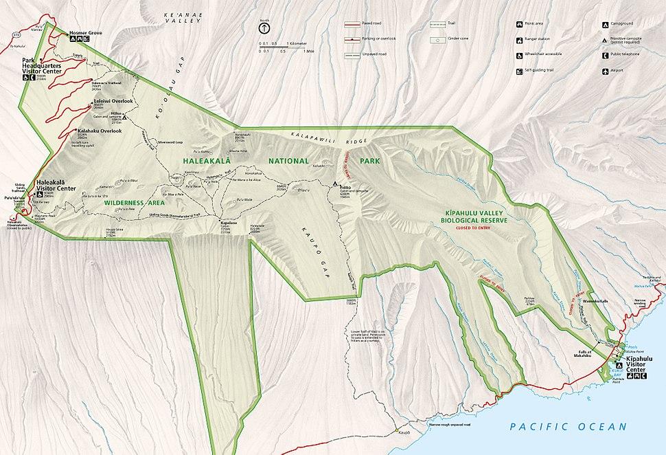 Haleakala National Park map 2008.08