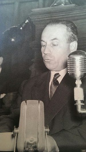 Grand National Assembly of Turkey - Halil Sezai Erkut during a speech.