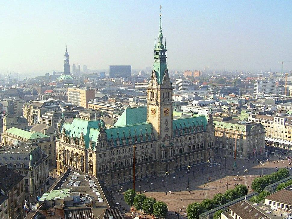 Hamburger Rathaus von St-Petri