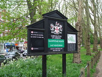 Hampstead Heath - Image: Hampstead Heath entrance south
