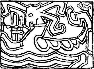 Glymdrápa - Gerhard Munthe: Illustration for  Glymdråpa in Harald Hårfagres Saga (1899)
