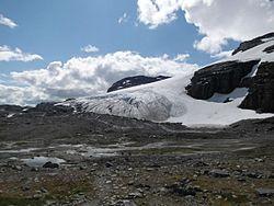 Gletscherzunge blåisen des hardangerjøkulen