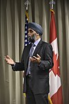 Harjit Saijan, Minister of Defence, at NORAD, Colorado, 160120-F-VT441-052 (24428070481).jpg