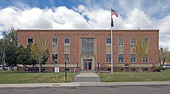 Harney County Courthouse in Burns