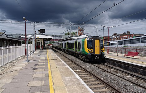London Midland 350121 at Harrow & Wealdstone station.